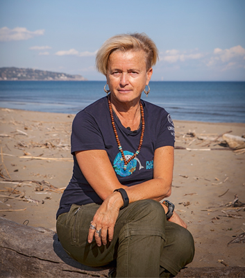 MARIA CRISTINA FOSSI researches the impact of  plastic waste on marine life in the Mediterranean Sea as  part of the marine protection project Plastic Busters MPAs. The interview was conducted while she was on a four-week research expedition.