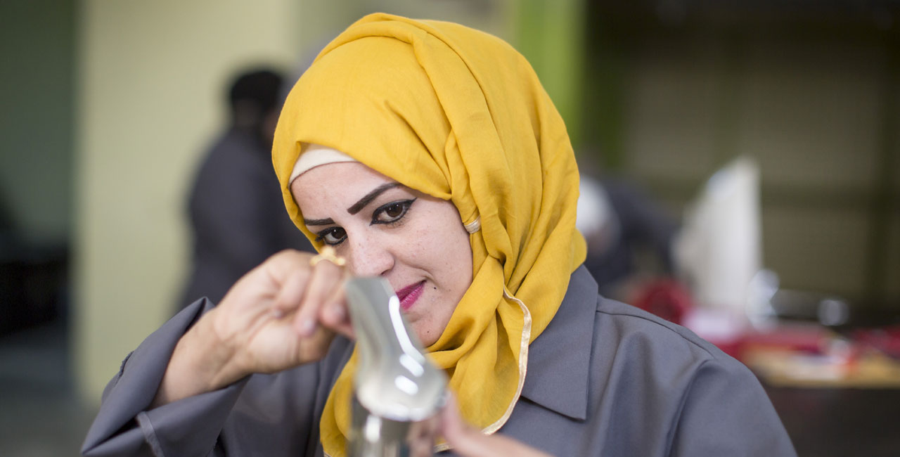 Syrian and Jordanian women are learning to be plumbers.